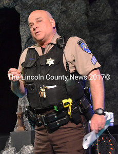 Lincoln Academy School Resource Officer Mark Bridgham talks about his experience at LA over the past 13 years. Bridgham's tenure as school resource officer will come to an end at the end of the school year due to his promotion to sergeant. (Maia Zewert photo)