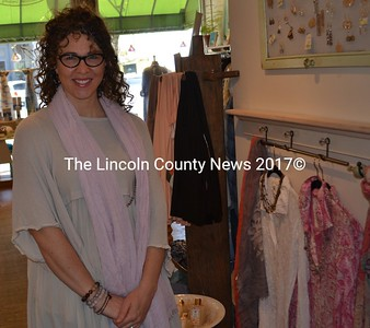 Casey McNamara, a former employee at In the Clover, is the new owner of the women's boutique in downtown Wiscasset. (Abigail Adams photo)