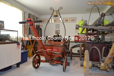 The newly refurbished Water Witch, Waldoboro's oldest fire engine. (Remy Segovia photo)