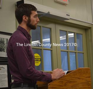 Wiscasset Town Planner Ben Averill speaks during a Wiscasset Board of Appeals meeting Monday, June 19. (Abigail Adams photo)
