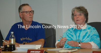 The Waldoboro Board of Selectmen selected Clinton Collamore and Jann Minzy to continue as chair and vice chair of the board Tuesday, June 27. (Alexander Violo photo)