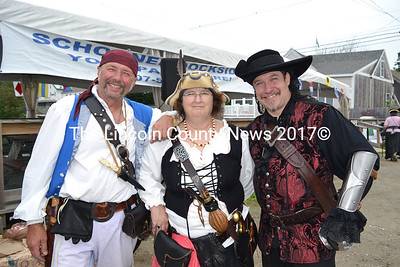 From left: Pirates Bard, Louisa, and Santiago pose for a picture. (Remy Segovia photo)