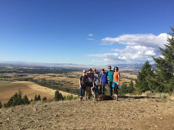 Team Hike at Triple Tree