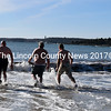 Polar dippers head for the water at Pemaquid Beach Park on Sunday, Jan. 14. (J.W. Oliver photo)