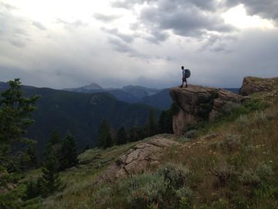 gregg hiking silhouette