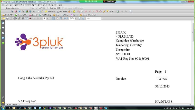 3PLUK Invoice