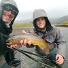 Chase and Ben with a nice YNP cutthroat.
