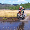 George wheelies his KTM 380 at Pipestone