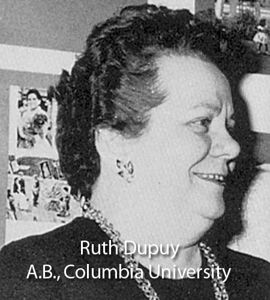 Dupuy, Ruth