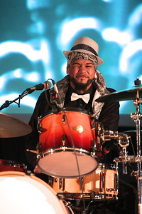 Sarah Borello's Band drummer, Brandon