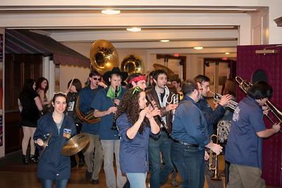 The Party Band with horns blaring NEMA Awards make their way into the NEMA Awards Show.