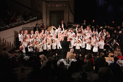 "South Shore Conservatory's Pure Treble Chorus Directed by Kathy McMinn, sings and acts out ""Counting Down to Christmas"" from the movie ""A Christmas Carol"". Wicked Local Photo/Denise Maccaferri"