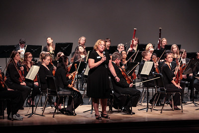 Plymouth Philharmonic Executive Director Kim Corben welcomes the PNHS Performing Arts Center audience to the Phil's 2nd concert of the Orchestra's 101st season lost Saturday night.  Wicked Local Photo/Denise Maccaferri