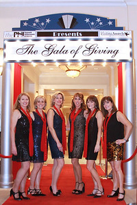 "The  Plymouth Philharmonic ""Phillies"" dance team pose on the read carpet before their dance competition performance.  From left, Kay Gordon, Deb Cox, Shawni Littlehale, Diana Caprio, Patty Demarco, and Stephanie Dromeshauser."
