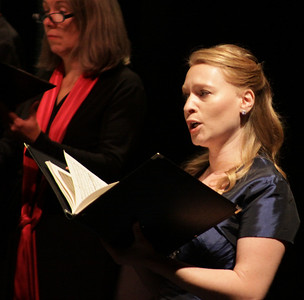 Ruth Hart, the 2012 winner of the American Prize for Vocal Performance in Art Song, sings at the combined Plymouth Philharmonic and Masterworks Chorale Concert at the Duxbury PAC last Saturday night.