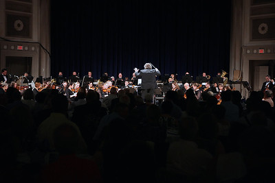 A view from the floor of Memorial during the Plymouth Philharmonic Orchestra's final concert of it's 98th Season.