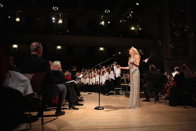 The Plymouth Philharmonic, the South Shore Conservatory Pure Treble Chorus and Amanda Carr perform together during the first of 3 Holiday Pops concert last last weekend. Wicked Local Photo/Denise Maccaferri