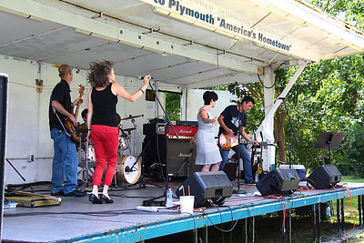 The band named Estatic rocks the stage at th Harborfest for MDA held Saturday August 10.