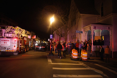 Someone outside Spire pulled the fire alarm forcing evacuation of the Spire while the fire department investigated on Saturday night. The concert resumed after a short delay.  One person was overheard saying that the music was so hot,  it set off the fire alarm!