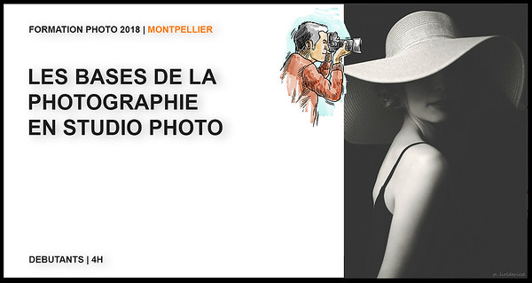 Cours photo introduction studio Montpellier