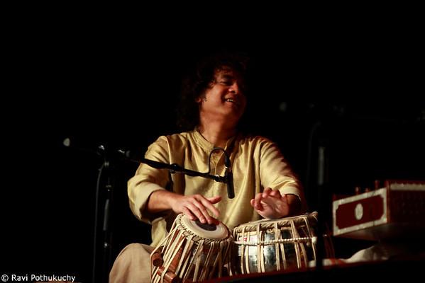 Ustad Zakir Hussain, in concert in Austin (TX), 2011