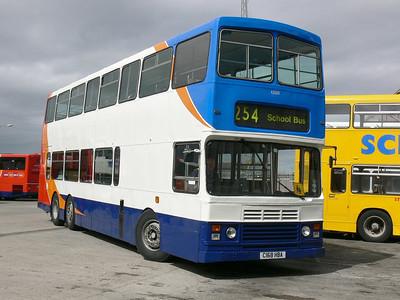 Stagecoach Bluebird 13508 Peterhead Depot 1 May 07