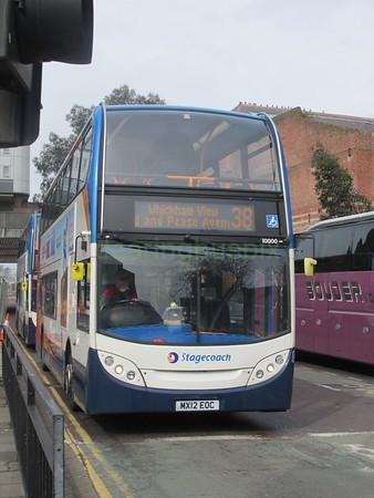 Stagecoach North East 10000 MX12EOC John Dobson St, Newcastle on 38