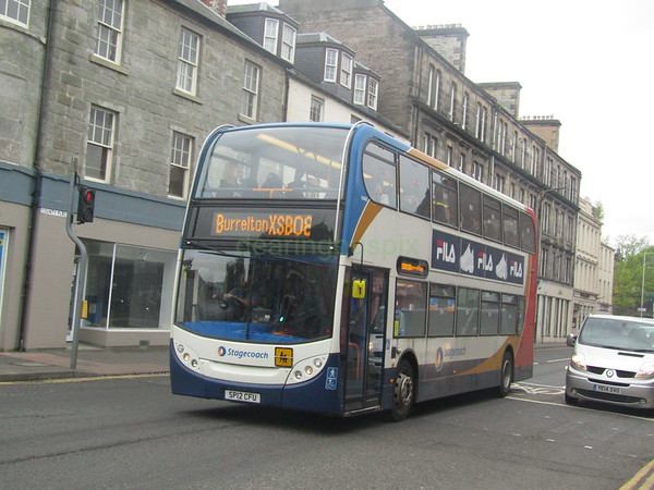Stagecoach East Scotland 10002 SP12CFU County Place, Perth on XSB08