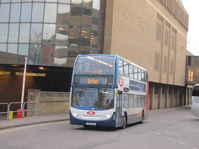Stagecoach East 10010 AE12CKA Queensgate Bus Stn, Peterborough on 1