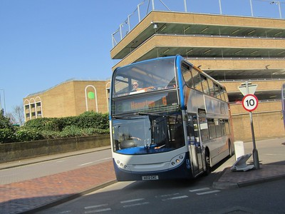 Stagecoach East 10011 AE12CKC Peterborough Bus Stn on 6