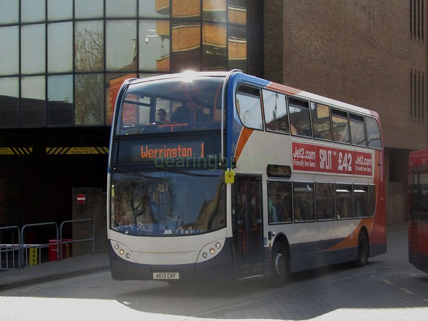 Stagecoach East 10013 AE12CKF Peterborough Bus Stn on 1