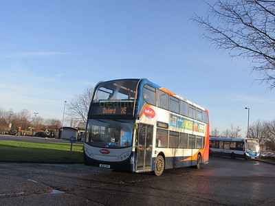 Stagecoach East 10013 AE12CKF Madingley Park & Ride, Cambridge on X5 (2)
