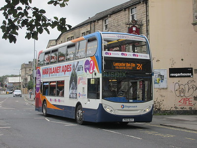 Stagecoach C&NL 10014 PX12DLV North Rd, Lancaster on 2X