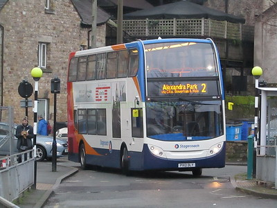Stagecoach C&NL 10015 PX12DLY Lancaster Bus Stn on 2