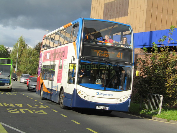 Stagecoach C&NL 10027 PX12DNJ Carlisle St, Preston on 41
