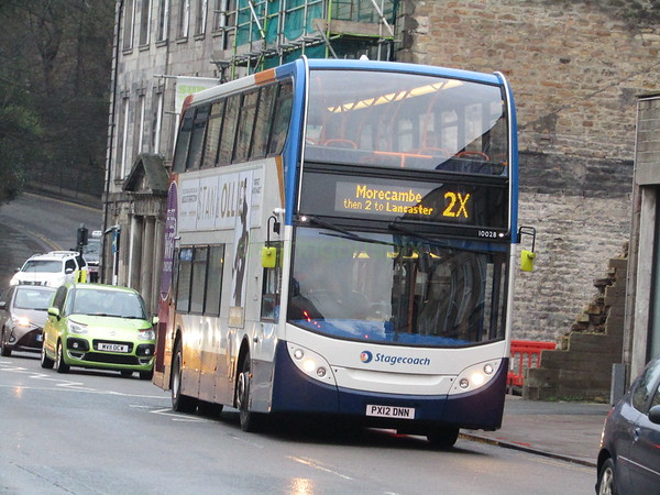 Stagecoach C&NL 10028 PX12DNN Cable St, Lancaster on 2X