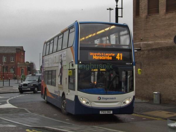 Stagecoach C&NL 10029 PX12DNO Carlisle St, Preston on 41