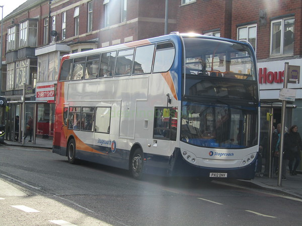 Stagecoach C&NL 10031 PX12DNV Abingdon St, Blackpool