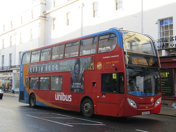 Stagecoach Midlands 10033 KX12GXB Parade, Royal Leamington Spa on U1