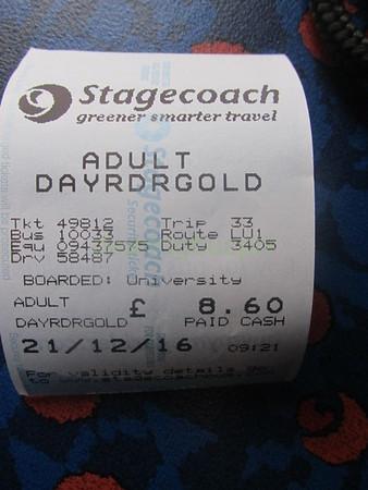 z Ticket Stagecoach Midlands 10033 KX12GXB on U1 to Leamington 20161221