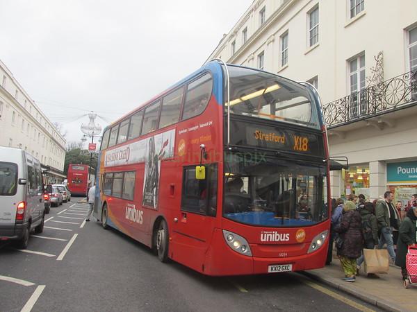 Stagecoach Midlands 10034 KX12GXC Parade, Leamington Spa on X18