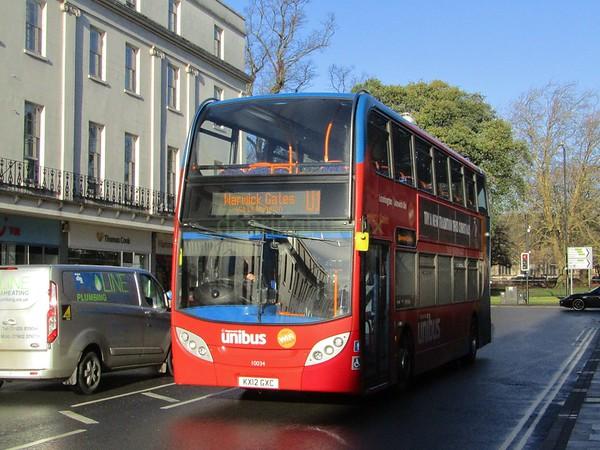 Stagecoach Midlands 10034 KX12GXC Parade, Royal Leamington Spa on U1