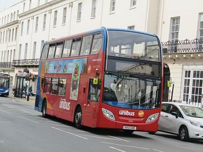 Stagecoach Midlands 10035 KX12GXD Parade, Leamington Spa on U1