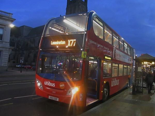 Stagecoach Midlands 10037 KX12GXF Victoria Terrace, Leamington Spa on X77