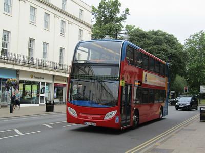 Stagecoach Midlands 10038 KX12GXG Parade, Leamington Spa