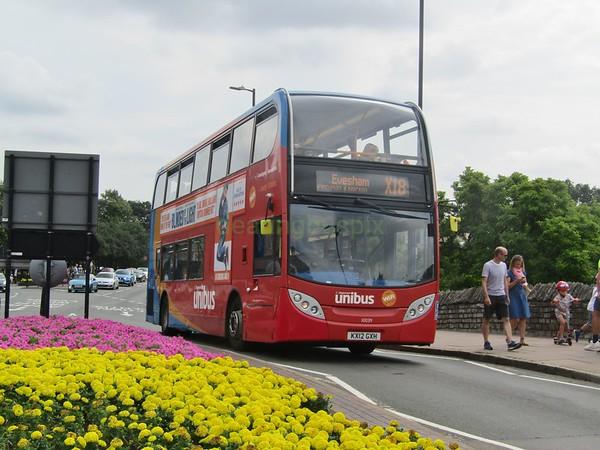 Stagecoach Midlands 10039 KX12GXH Bridge Foot, Stratford-upon-Avon on X18