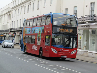 Stagecoach Midlands 10040 KX12GXJ Parade, Leamington Spa on U1