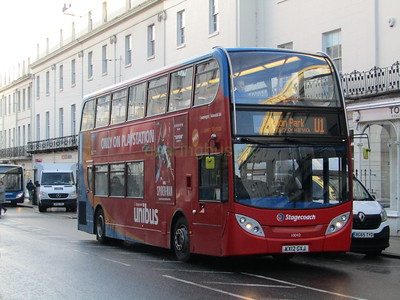 Stagecoach Midlands 10040 KX12GXJ Parade, Royal Leamington Spa on U1