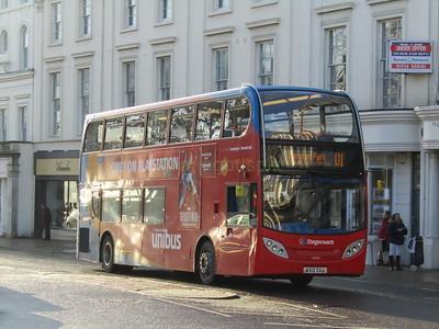 Stagecoach Midlands 10040 KX12GXJ Parade, Royal Leamington Spa on U1 (2)