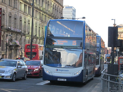 Stagecoach Manchester 10042 MX12LWH Portland St, Manchester on 15